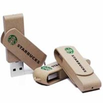 Pendrive Carton Reciclado Twister ecologico logotipo 2