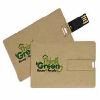 Tarjeta USB Pendrive Carton reciclado