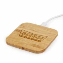 Cargador Wireless Cuadrado Bambú