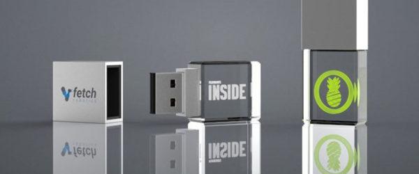 USB Personalizados de Cristal Con Logotipo en Su Interior