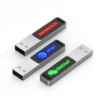 Pendrive USB Personalizado Metal Led